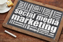 marketingowy medialny socjalny Zdjęcia Stock