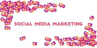 marketingowy medialny socjalny Fotografia Royalty Free