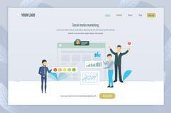 marketingowy medialny socjalny Medialny planowanie, promocje, firmy, cyfrowy marketing ilustracji