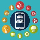 marketingowy online Zdjęcie Stock