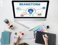Marketingowy plan biznesowy ikony słowa pojęcie zdjęcia stock