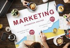 Marketingowy plan biznesowy strategii wzroku reklamy pojęcie Obraz Stock