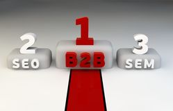 marketingowy podium określa zwycięzców Obrazy Stock