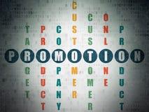 Marketingowy pojęcie: słowo promocja w rozwiązywać Zdjęcia Stock