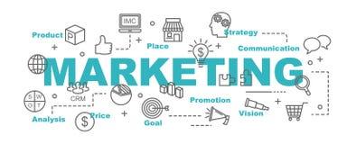 Marketingowy wektorowy sztandar ilustracja wektor