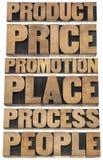 Marketingstrategiekonzept - 6P Lizenzfreie Stockfotos