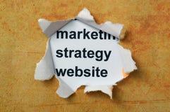 Marketingstrategiewebsite Lizenzfreies Stockfoto