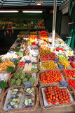 Marketplace. Fruits and vegetables sale on marketplace stock photography