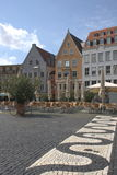 Marketplace. It's a beautiful day! Enjoy a coffee on the marketplace in Augsburg, Germany Royalty Free Stock Photo