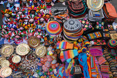 On marketplace. The small goods in the Mexican marketplace stock photography