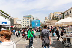 Marketplace in Athens, Greece Royalty Free Stock Images