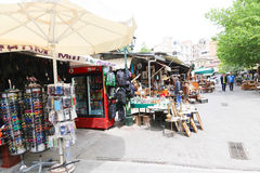 Marketplace in Athens, Greece Royalty Free Stock Photos