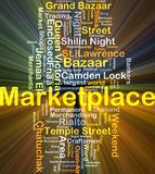 Marketplace background concept glowing Royalty Free Stock Photo