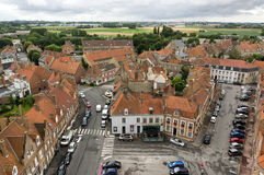 Marketplace in bergues Stock Photo