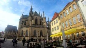 Marketplace e Marienchurch, Osnabrück, Germania archivi video