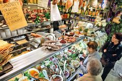 Marketplace in Florence Stock Image