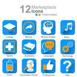 Marketplace icons Stock Images