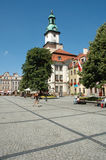 Marketplace in Jelenia Gora city Stock Photo