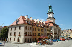 Marketplace in Jelenia Gora city Royalty Free Stock Photography