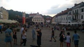 Marketplace in Kazimierz Dolny stock photos