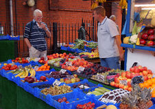 Marketplace in London. Outdoor Fruit Market in London, England Stock Photography