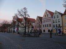 Marketplace Marktplatz Unterer Markt in Weiden i.d. Oberpfalz Royalty Free Stock Photo