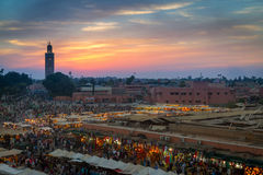 Marketplace of Marrakech Stock Photo
