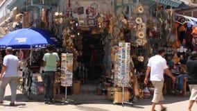 Marketplace in medina, Tunisia, Sousse stock video