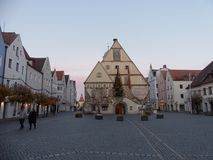 Marketplace and old town hall in Weiden i. d. Oberpfalz Stock Photography