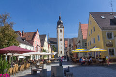 Marketplace Schwandorf Royalty Free Stock Images