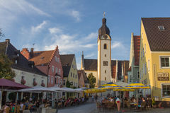 Marketplace Schwandorf Royalty Free Stock Photo