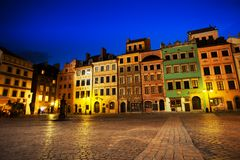 Marketplace square in Warsaw Royalty Free Stock Photography