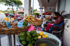 marketplace street in Leon, Nicaragua Royalty Free Stock Image