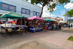 Marketplace street in Leon, Nicaragua Stock Photography