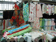Marketplace for Textiles royalty free stock photos