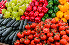 Marketplace vegetables Stock Photo