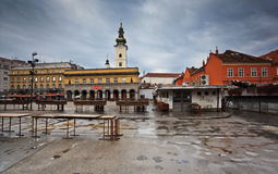 Marketplace in Zagreb, Croatia Royalty Free Stock Image
