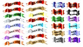 Markets band set vector Stock Photos