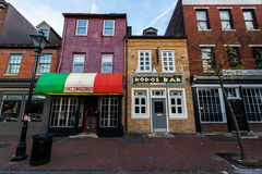 Markets in Downtown Historic District in Fells Point/ Harbor Eas Royalty Free Stock Photos