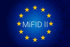 Markets in Financial Instruments Directive - MiFID II.. Illustration Stock Photos