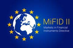 Markets in Financial Instruments Directive - MiFID II. vector. Illustration Royalty Free Stock Photography
