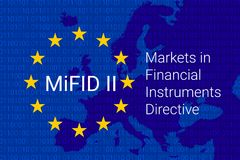 Markets in Financial Instruments Directive - MiFID II. vector. Illustration Stock Image