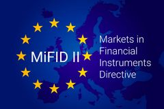 Markets in Financial Instruments Directive - MiFID II. vector. Illustration Stock Photo