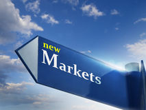 markets nytt Arkivfoton