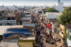Markets surrounding the Charminar hyderabad Royalty Free Stock Photo