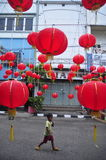 Markets welcomed the Chinese New Year in Semarang Stock Photo