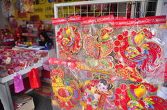Markets welcomed the Chinese New Year in Semarang Royalty Free Stock Image