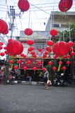 Markets welcomed the Chinese New Year in Semarang Royalty Free Stock Photos