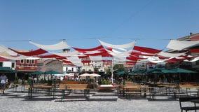 Marketsquare Korca города улицы старое красит travelphotography Стоковая Фотография
