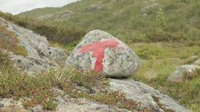 Markier na trekking w górach zdjęcie wideo